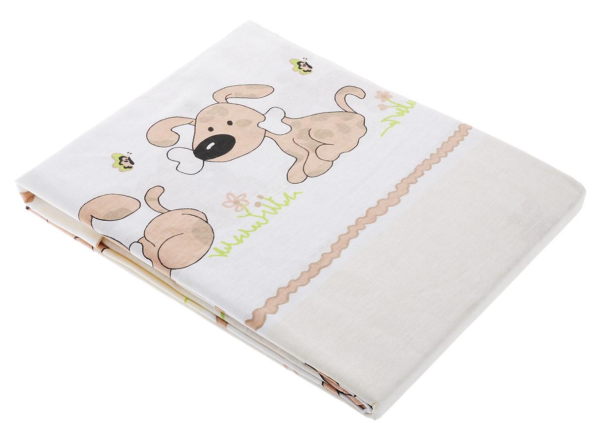 Топотушки Комплект белья для новорожденных Дружок цвет светло-коричневый 3 предмета