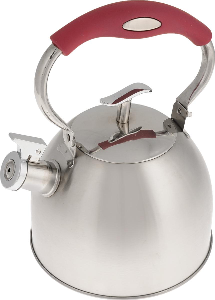 Чайник Mayer & Boch, со свистком, 3 л. 2142921429Чайник Mayer & Boch выполнен из высококачественной нержавеющей стали с зеркальной и матовой полировкой, что делает его гигиеничным и устойчивым к износу при длительном использовании. Нержавеющая сталь не окисляется и не впитывает запахи, напитки всегда ароматные и имеют настоящий вкус. Капсулированное дно с прослойкой из алюминия обеспечивает наилучшее распределение тепла. Носик чайника оснащен насадкой-свистком, что позволит вам контролировать процесс подогрева или кипячения воды. Подвижная ручка изготовлена из пластика с покрытием Soft-Touch. Поверхность чайника гладкая, что облегчает уход. Эстетичный и функциональный чайник будет оригинально смотреться в любом интерьере. Подходит для использования на всех типах плит, включая индукционные. Можно мыть в посудомоечной машине. Высота чайника (без учета ручки и крышки): 14 см. Высота чайника (с учетом ручки и крышки): 26 см. Диаметр чайника (по верхнему краю): 10...