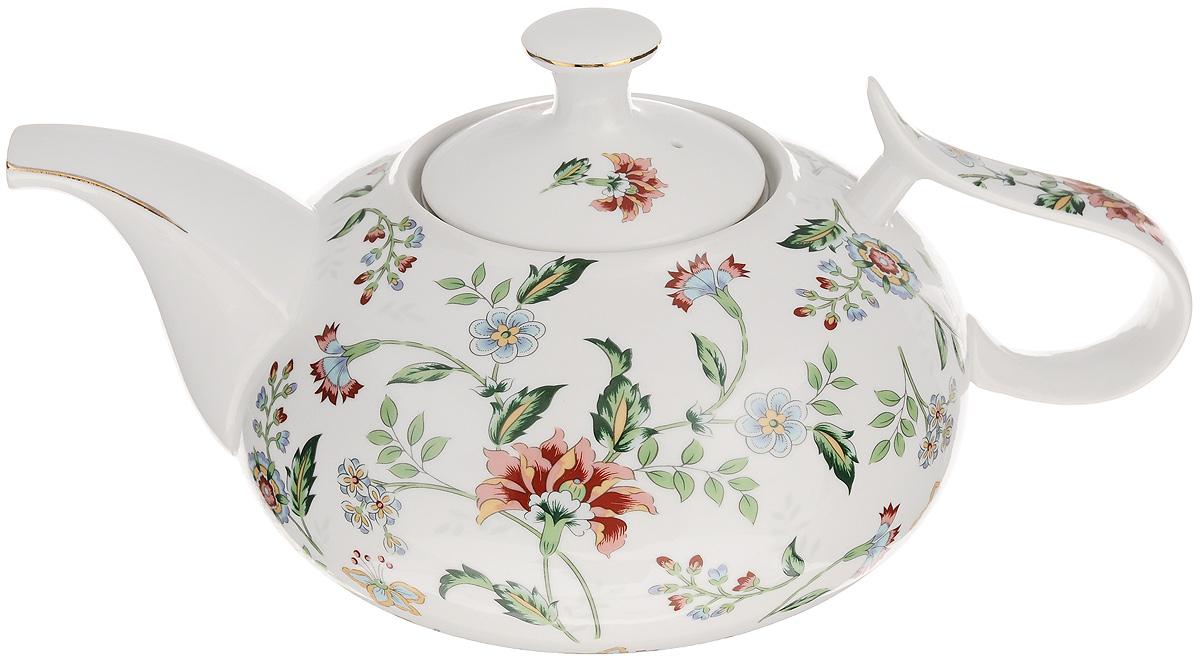 Чайник заварочный Loraine Лютик, 900 мл. 2114621146Заварочный чайник Loraine Лютик изготовлен из керамики и оформлен красивым рисунком. Чайник оснащен сетчатым фильтром из металла, который задерживает чаинки и предотвращает их попадание в чашку. Заварочный чайник Loraine Лютик займет достойное место на вашей кухне, а также послужит хорошим подарком для друзей и близких. Диаметр: 6,5 см. Диаметр основания: 8,5 см. Высота фильтра: 5 см. Высота чайника (без учета ручки и крышки): 10 см.