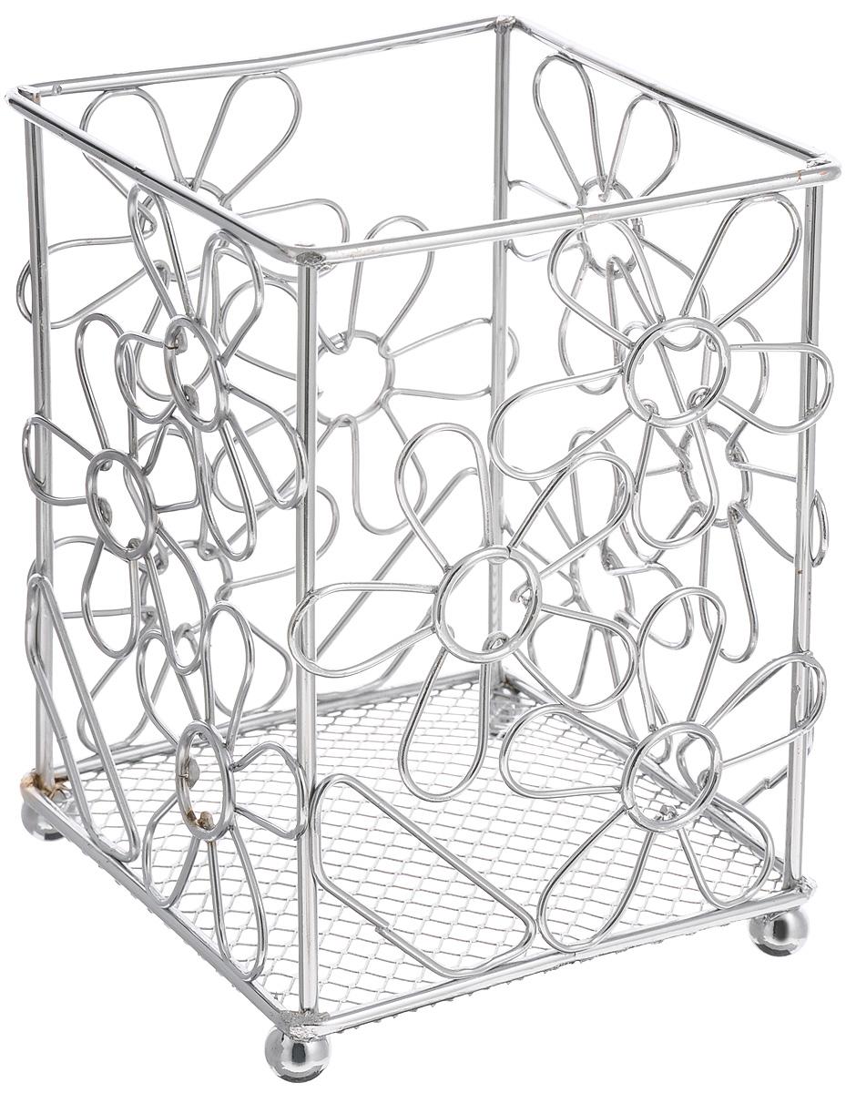 """Подставка для столовых приборов Mayer & Boch """"Цветы"""", 12 х 12 х 17,5 см"""