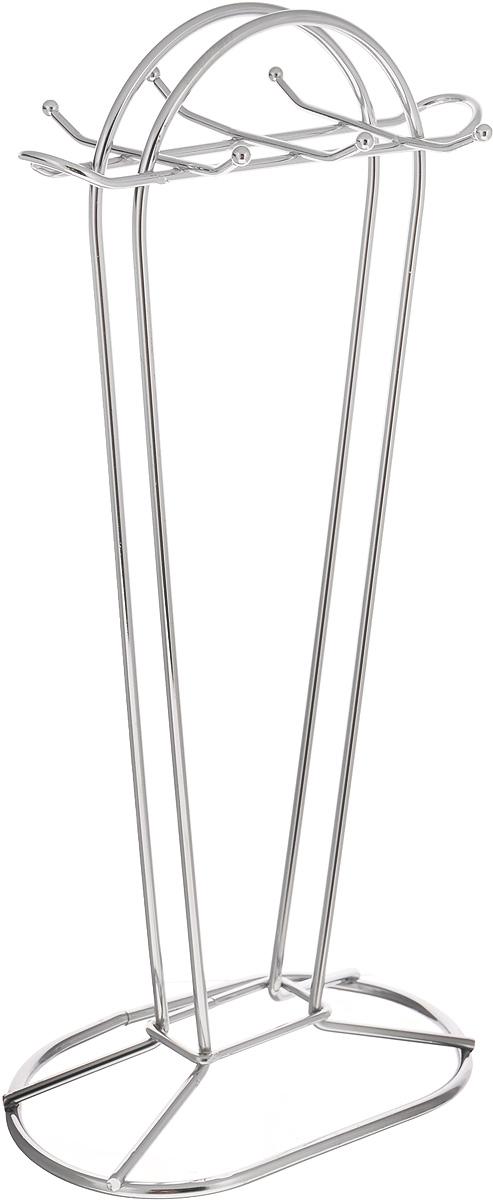 Подставка для кухонных принадлежностей Mayer & Boch, высота 38 см2968Подставка для кухонных принадлежностей Mayer & Boch изготовлена из хромированного металла. Подставка рассчитана на 6 приборов. Вы можете установить ее в любом удобном месте, такая подставка позволит аккуратно хранить изделия. Размер основания: 18 х 11 см. Высота: 38 см.