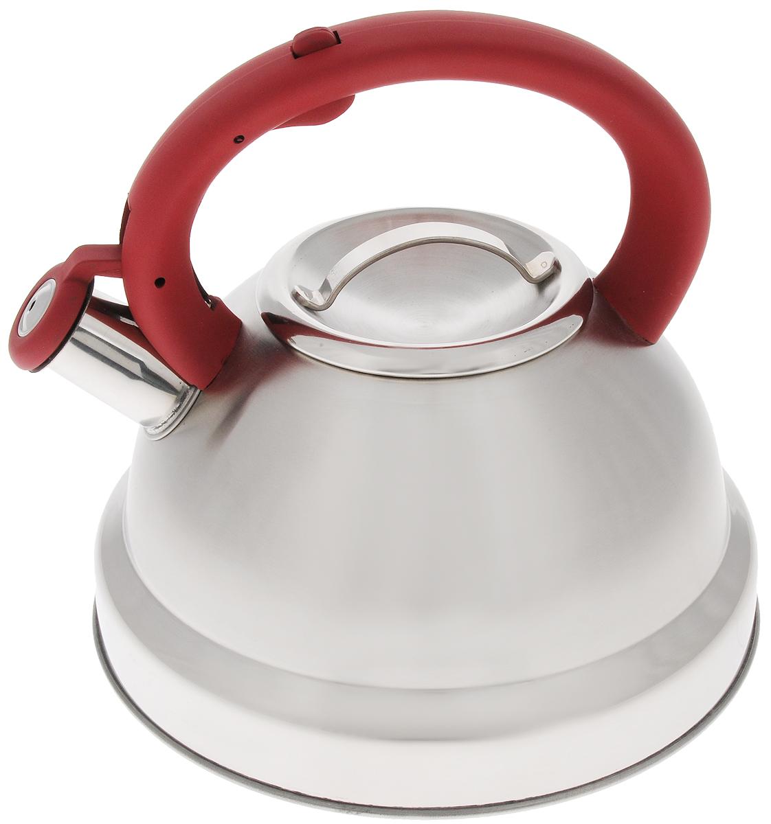 Чайник Mayer & Boch, со свистком, 3,5 л. 2141921419Чайник Mayer & Boch выполнен из высококачественной нержавеющей стали. Фиксированная ручка снабжена механизмом для открывания носика, что делает использование чайника очень удобным и безопасным. Носик чайника оснащен свистком, что позволит вам контролировать процесс подогрева или кипячения воды. Эстетичный и функциональный чайник будет оригинально смотреться в любом интерьере. . Подходит для всех видов плит, включая индукционные. Можно мыть в посудомоечной машине. Диаметр чайника (по верхнему краю): 10 см. Диаметр основания: 22 см. Высота чайника (с учетом ручки): 20,5 см. Диаметр индукционного диска: 17,5 см.