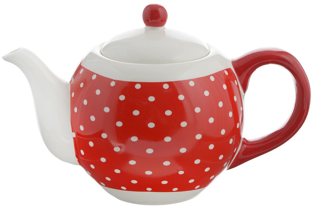 Чайник заварочный Loraine Красный узор, 950 мл. 2585825858Заварочный чайник Loraine изготовлен доломитовой керамики высокого качества. Гладкая и легкая в очистке поверхность. Изделие прекрасно подходит для заваривания вкусного и ароматного чая, травяных настоев. Оригинальный дизайн сделает чайник настоящим украшением стола. Он удобен в использовании и понравится каждому. Можно мыть в посудомоечной машине. Не боится низких температур. Диаметр чайника (по верхнему краю): 8,5 см. Диаметр основания чайника: 7 см. Высота чайника (без учета крышки): 11,5 см. Высота чайника (с учётом крышки): 15,5 см.