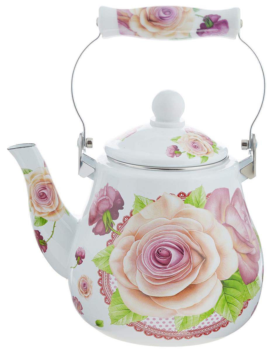 Чайник эмалированный Mayer & Boch Розы, 2,5 л. 23994