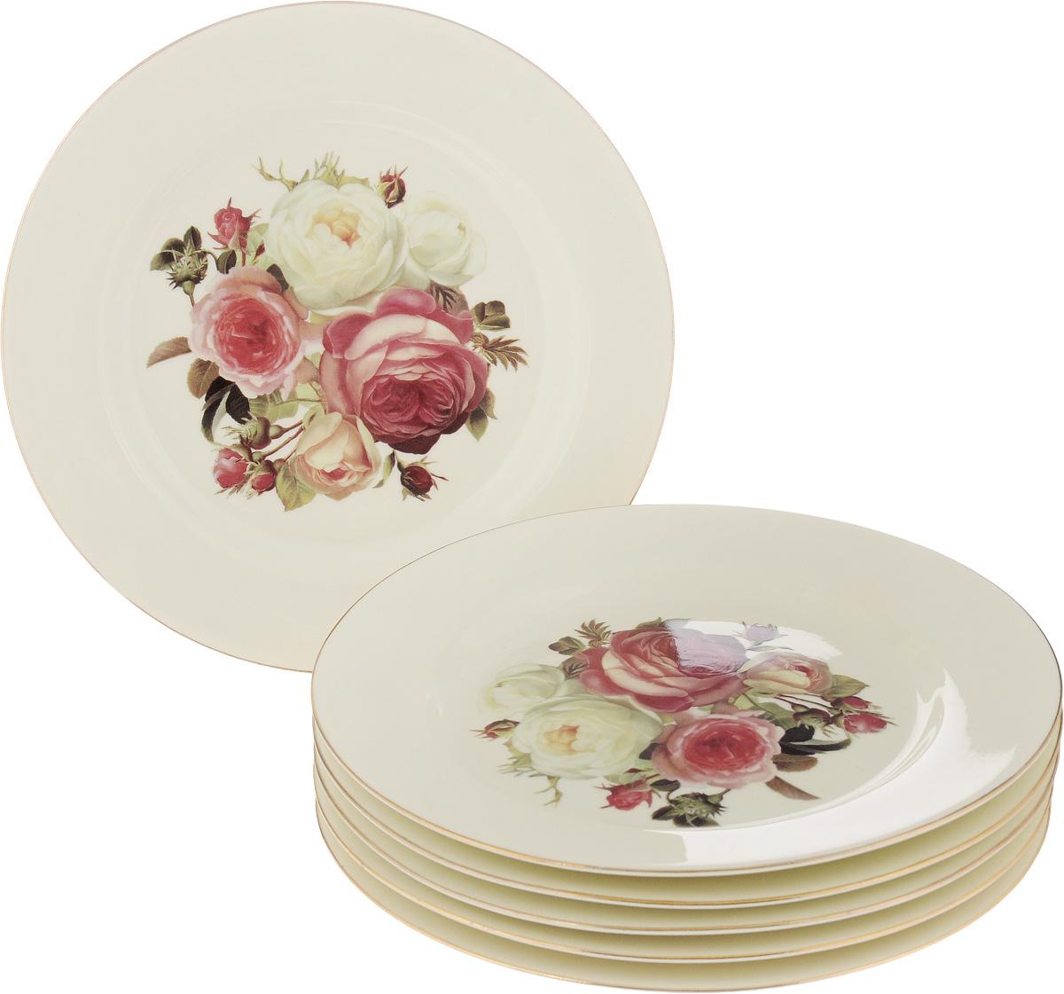 Набор десертных тарелок Patricia Яркая роза, диаметр 19 см, 6 штIM4342Набор Patricia Яркая роза состоит из шести десертных тарелок, выполненных из высококачественной керамики. Изделия декорированы изображениями цветов. Тарелки имеют круглую форму. Такой набор украсит сервировку стола и порадует вас изящным дизайном. Не рекомендуется мыть в посудомоечной машине и использовать в микроволновой печи. Диаметр (по верхнему краю): 19 см. Высота: 2 см.