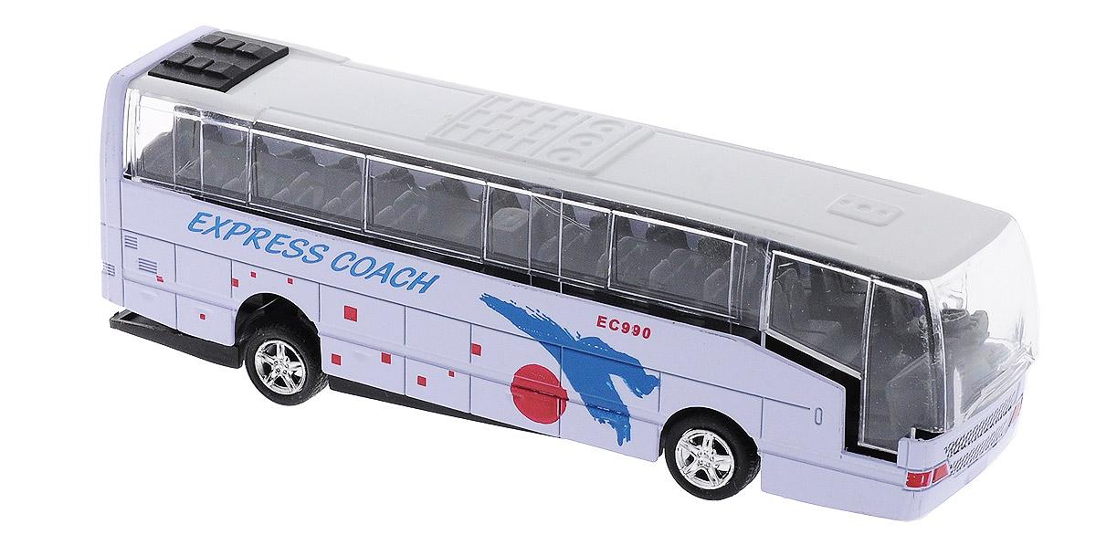 Big Motors Автобус инерционный Cheerful Bus цвет сиреневый27893-80136L;XL80136L_сиреневыйИнерционный автобус Big motors Cheerful Bus, выполненный из пластика и металла, станет любимой игрушкой вашего малыша. Игрушка представляет собой модель автобуса с надписью Express Coach. При нажатии на крышу замигает внутренняя подсветка, раздастся звук работающего двигателя и веселая музыка. Игрушка оснащена инерционным ходом. Автобус необходимо отвести назад, затем отпустить - и он быстро поедет вперед. Прорезиненные колеса обеспечивают надежное сцепление с любой гладкой поверхностью. Ваш ребенок будет часами играть с этой игрушкой, придумывая различные истории. Порадуйте его таким замечательным подарком! Для работы игрушки необходимы 3 батарейки типа LR44 (товар комплектуется демонстрационными).