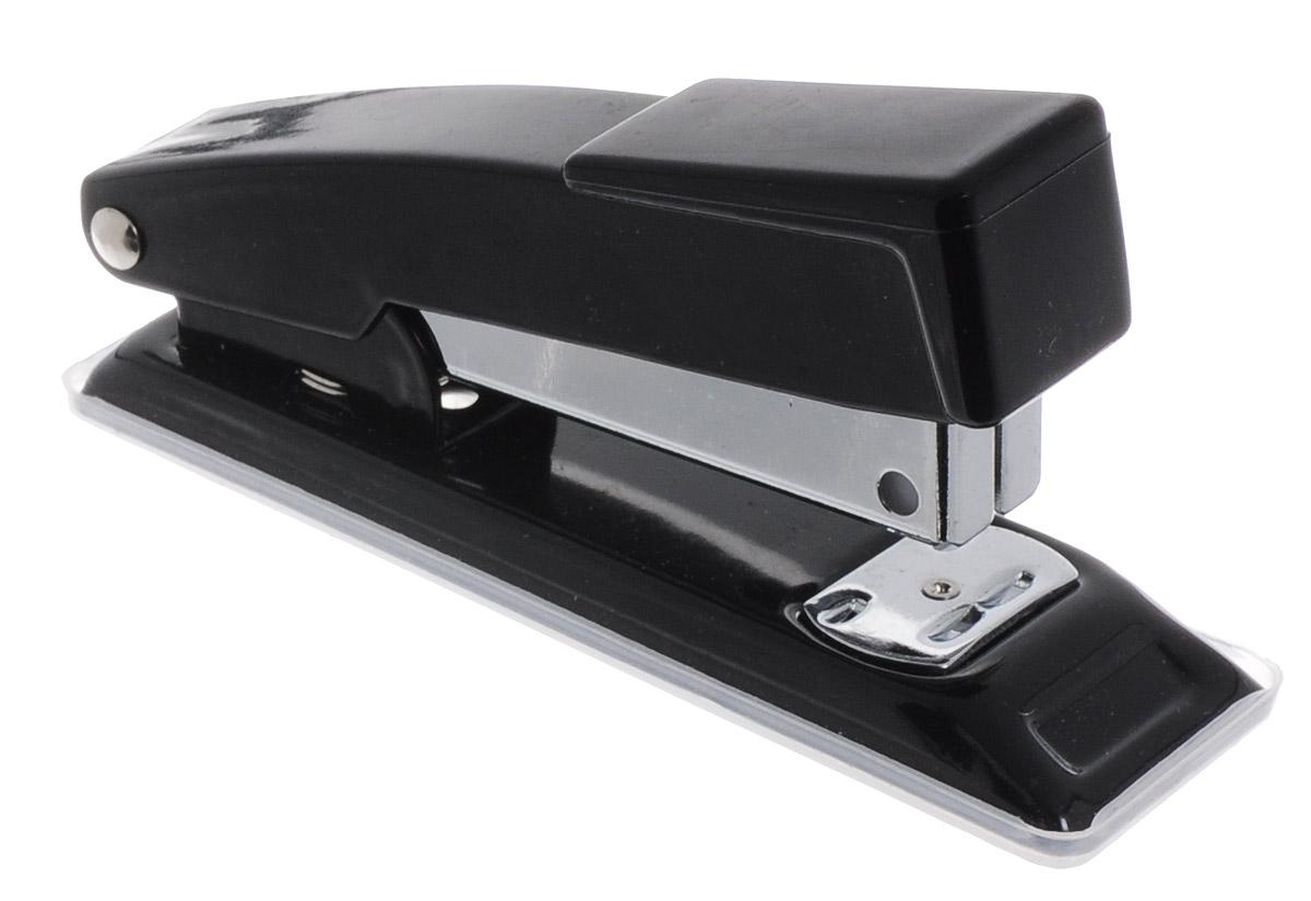 Centrum Степлер для скоб №24/6 26/6 цвет черный80061_черныйСтильный, удобный и практичный степлер Centrum - незаменимый офисный инструмент. Он выполнен из пластика с металлическим механизмом. Степлер рассчитан на скрепление 10 листов скобами № 24/6, 26/6. Степлер Centrum с надежным корпусом и практичным дизайном гарантирует стабильную и качественную работу в течение долгого времени.
