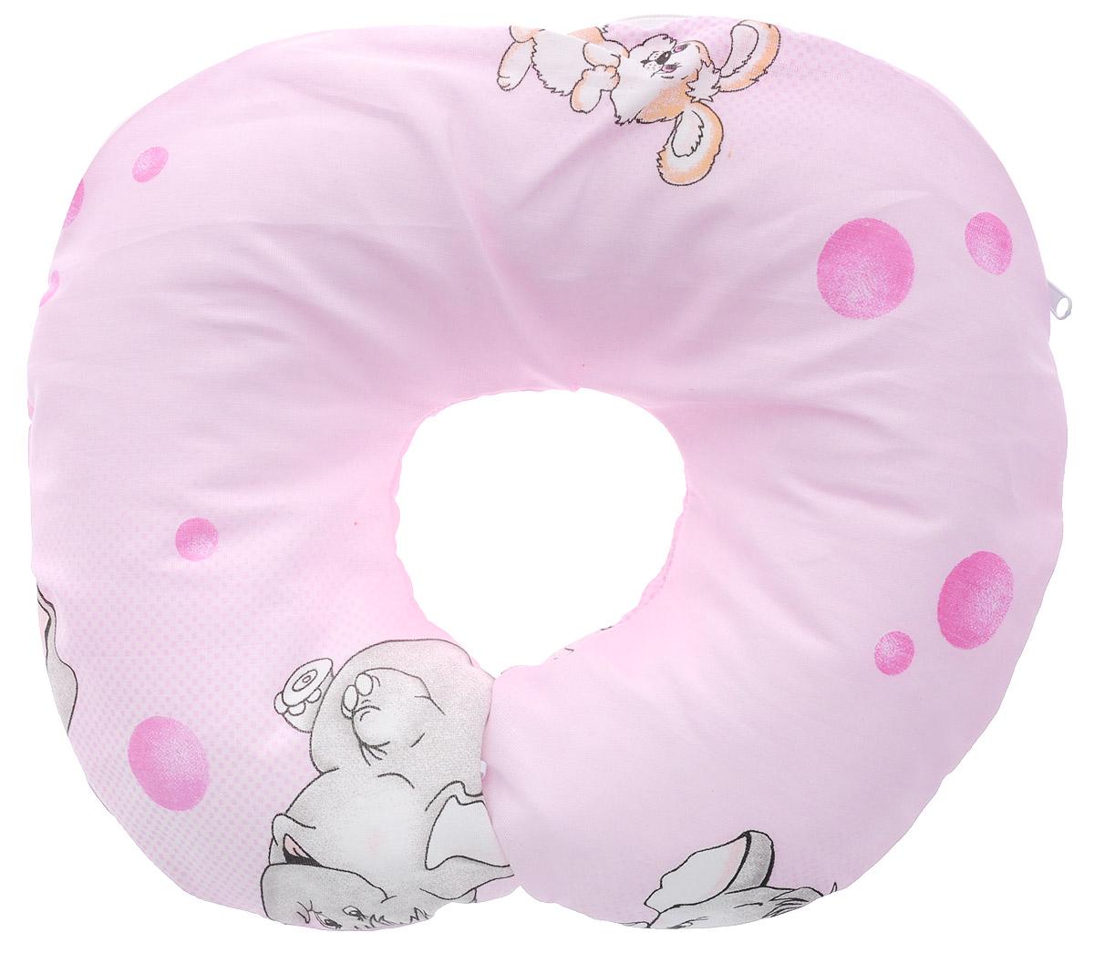 Selby Подушка-воротник для младенца Слон цвет розовый 30 см х 25 см5582_розовый, слонДетская подушка-воротник Selby изготовлена из мягкого натурального хлопка с наполнителем из пенополистирола. Подушка удобна и комфортна. Она поддерживает головку ребенка во время сна, отдыха или купания. Благодаря такой подушке при купании руки у мамы свободны, поэтому можно без труда помыть ребенка, пока он плавает. Подушка фиксируется вокруг шеи. Изделие также идеально подходит для длительных поездок в самолете, машине, коляске или автокресле. Подушка имеет съемный чехол на застежке-молнии. Уход: машинная стирка (40 °C) и деликатный отжим.