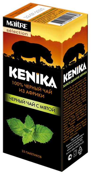 Maitre Selection Кеника чай черный байховый с мятой в пакетиках, 20 шт