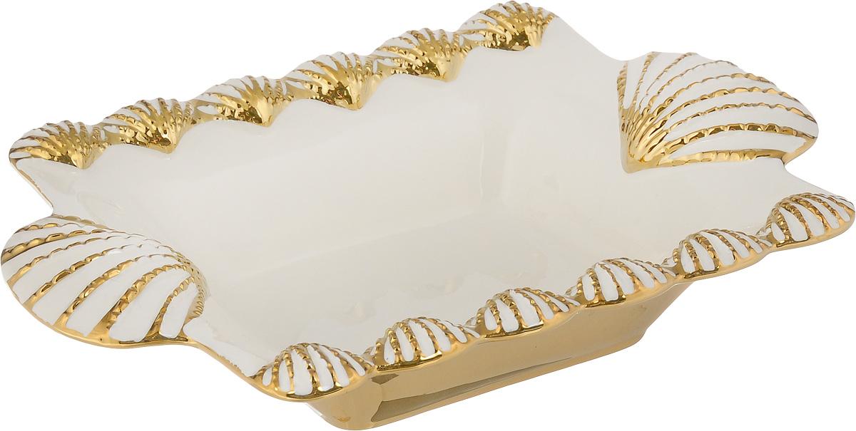 Блюдо Patricia Ракушка, 32 х 23 смIM08-0409Овальное блюдо Patricia Ракушка - прекрасное дополнение праздничного стола. Изделие выполнено из высококачественного доломита. Блюдо сочетает в себе изысканный дизайн с максимальной функциональностью. Блюдо Patricia Ракушка идеально подойдет для сервировки стола и станет отличным подарком к любому празднику. Не рекомендуется использовать в микроволновой печи и мыть в посудомоечной машине. Размер блюда по верхнему краю(с учетом ручек): 32 х 23 см. Высота блюда: 6 см.