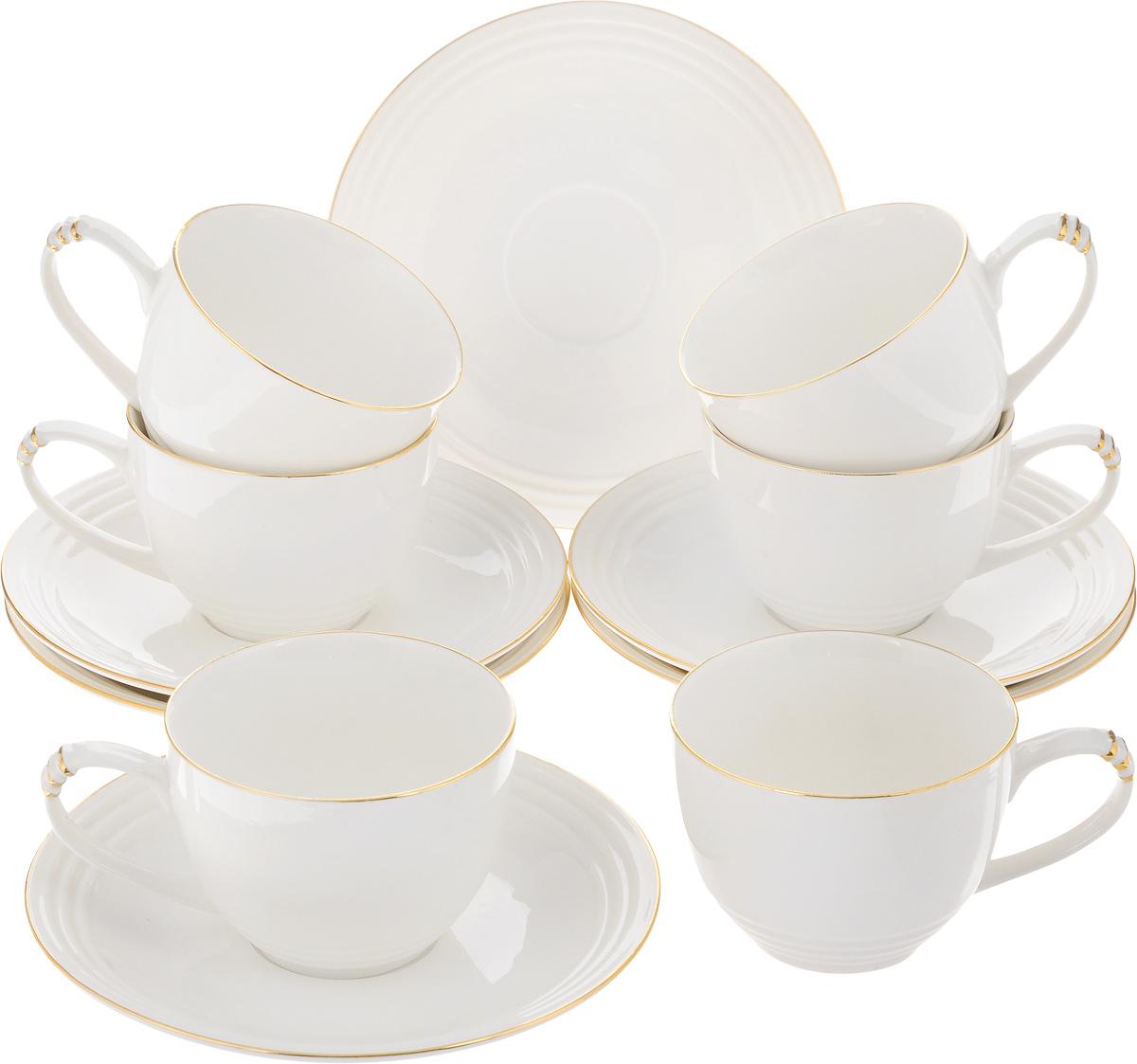 Набор чайный Patricia Бланко, 12 предметовIM52-1701Чайный набор Patricia Бланко состоит из 6 чашек и 6 блюдец. Изделия выполнены из высококачественного фарфора. Такой набор изящно дополнит сервировку стола к чаепитию. Не рекомендуется мыть в посудомоечной машине и использовать в микроволновой печи. Объем чашки: 200 мл. Диаметр чашки по верхнему краю: 8,5 см. Высота чашки: 6 см. Диаметр блюдца: 15,5 см. Высота блюдца: 2,2 см.