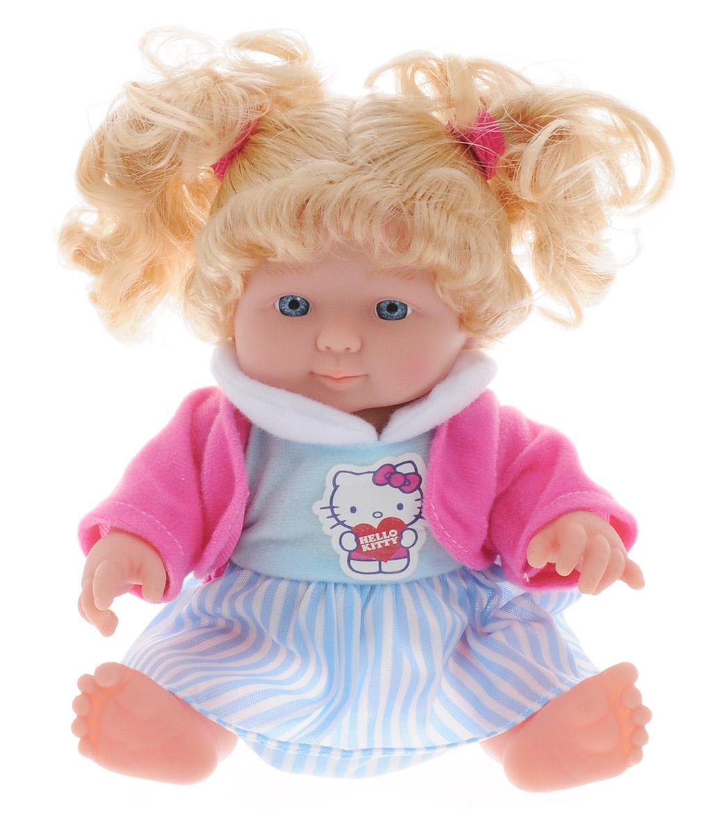 Карапуз Пупс озвученный Нello Кitty в полосатой юбке цвет голубой розовый белый30205-HELLO KITTY_голубойПупс озвученный Карапуз Нello Кitty непременно порадует вашу малышку и подарит массу положительных эмоций. Кукла выполнена с анатомической точностью и выглядит совсем как настоящий малыш. Ручки, ножки и голова подвижны и изготовлены из высококачественного материала. Пупс одет в платье бело-голубого цвета, сверху накинута розовая кофточка. У куколки густые светлые волосы, которые убраны в два забавных хвостика. Кукла может издавать звуки совсем как маленький ребенок. Нажмите на животик пупса - и он заплачет, покапризничает, засмеется, покашляет. Всего кукла издает 10 разных звуков. Игра с куклой учит детей проявлять заботу, доброту и выражать свои чувства. Рекомендуется докупить 3 батарейки AG13/LR44 (товар комплектуется демонстрационными).
