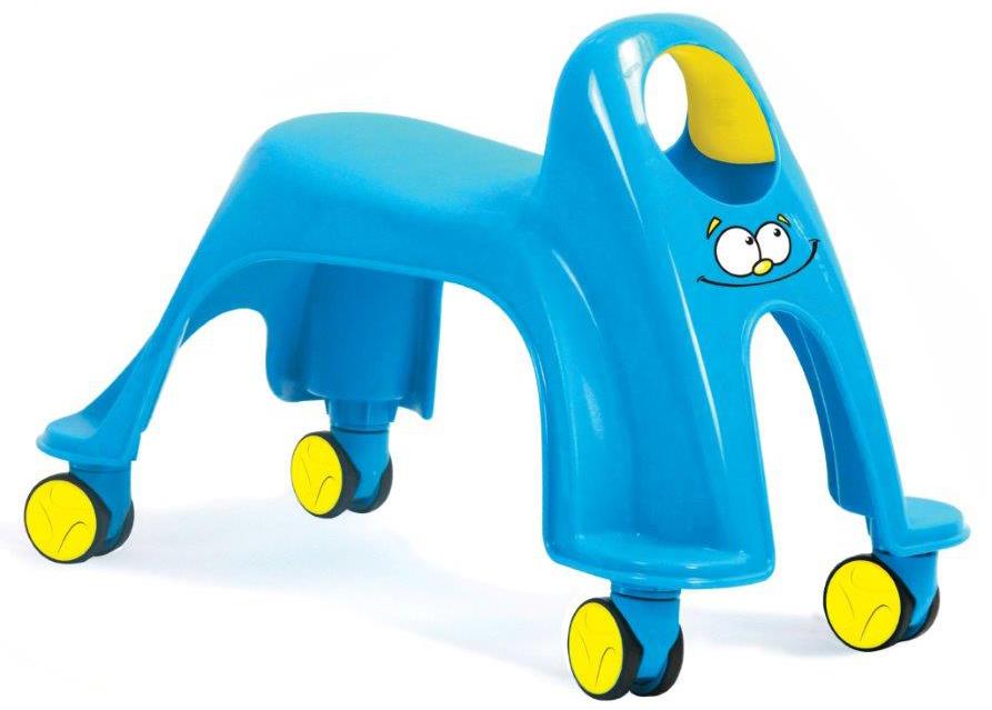 Bradex Каталка детская Вихрь цвет голубойDE 0173Маленькие гонщики в возрасте от 1 до 3 лет будут в восторге от маневренной машинки Вихрь. Легкая и невероятно простая в управлении, она не только надолго займет ребенка, но и поможет улучшить моторику и поспособствует правильному развитию легких и сердечно-сосудистой системы малыша. Колеса вращаются на 360 градусов и позволяют детям мчаться как вихрь в любом направлении.