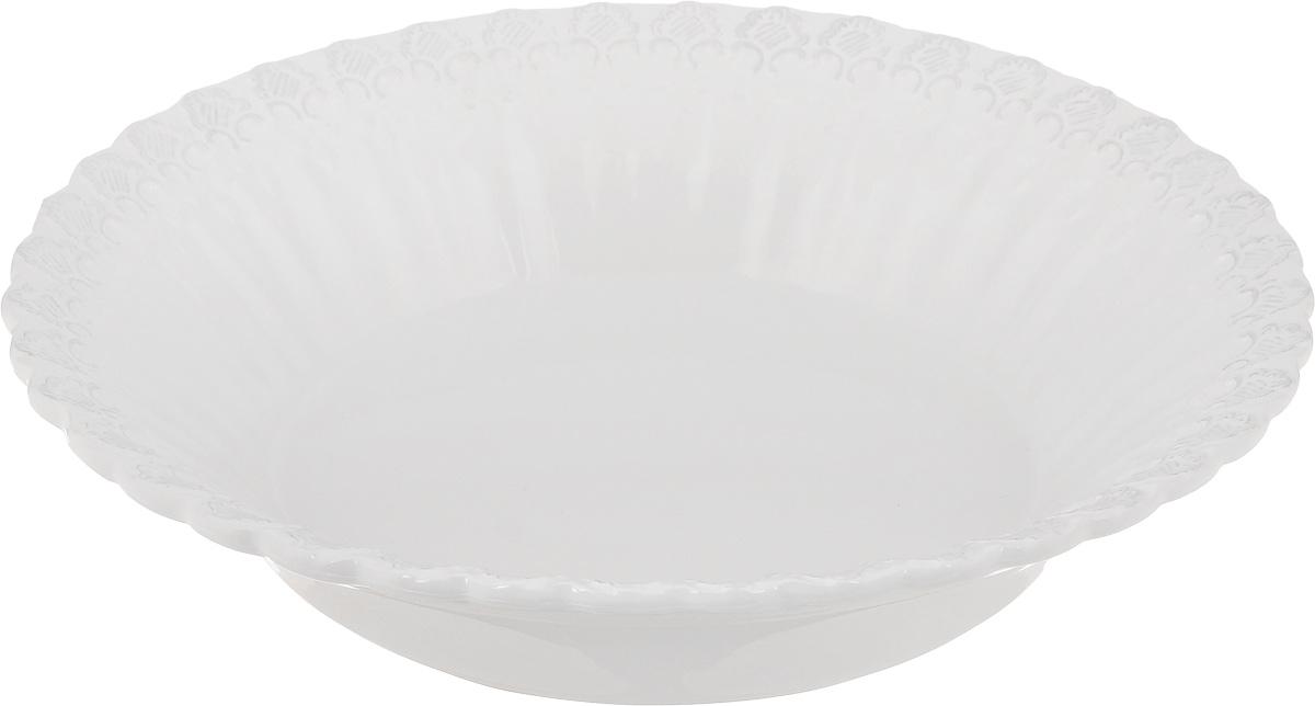 Салатник Patricia Версаль, диаметр 33 смIM18-0008Великолепный круглый салатник Patricia Версаль, изготовленный из фаянса, прекрасно подойдет для подачи различных блюд, закусок, салатов или фруктов. Такой салатник украсит ваш праздничный или обеденный стол, а оригинальное исполнение понравится любой хозяйке. Не рекомендуется мыть в посудомоечной машине и использовать в микроволновой печи.