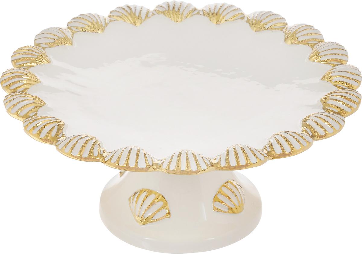 Блюдо для торта Patricia Ракушка, диаметр 28 смIM08-0402Блюдо для торта Patricia Ракушка выполнено из доломита с рельефной поверхностью. Посуда обладает гладкой непористой поверхностью и не впитывает запахи, ее легко и просто мыть. Изящный дизайн и красочность оформления придутся по вкусу и ценителям классики, и тем, кто предпочитает утонченность и изысканность. Не рекомендуется мыть в посудомоечной машине и использовать в микроволновой печи. Диаметр блюда: 28 см.
