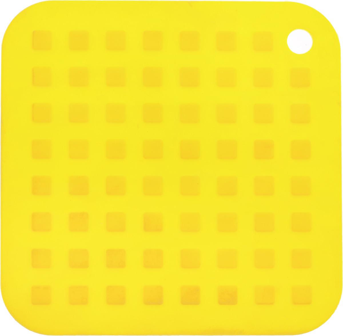 Подставка под горячее Mayer & Boch, силиконовая, цвет: желтый, 16 х 16 см22084Подставка под горячее Mayer & Boch изготовлена из силикона и оформлена рельефом в виде квадратов. Материал позволяет выдерживать высокие температуры и не скользит по поверхности стола. Каждая хозяйка знает, что подставка под горячее - это незаменимый и очень полезный аксессуар на каждой кухне. Ваш стол будет не только украшен яркой и оригинальной подставкой, но и сбережен от воздействия высоких температур.