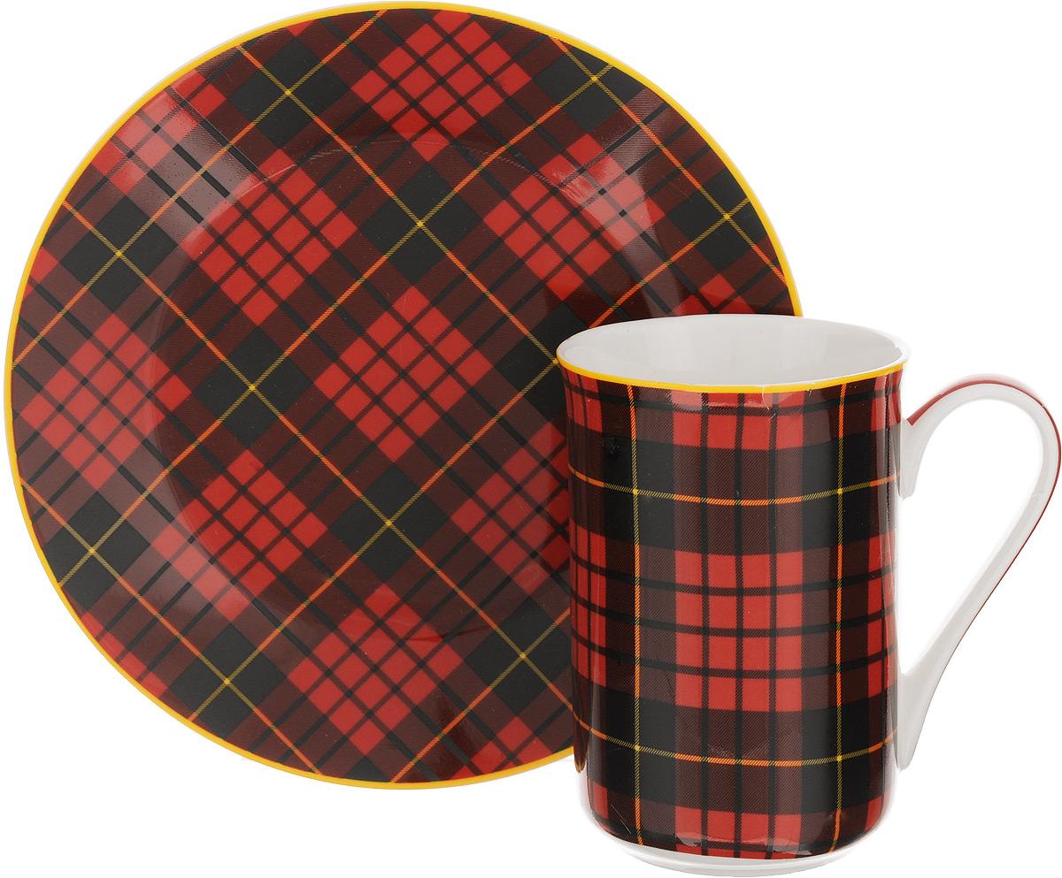 Набор для завтрака Patricia Стиль, 2 предмета. IM52-1000IM52-1000Набор для завтрака Patricia Стиль включает кружку и тарелку. Изделия выполнены из фарфора высокого качества и украшены декором в виде традиционной шотландской клетки. Набор идеально подойдет для сервировки завтрака для одной персоны. Такой набор не только порадует своей практичностью, но и станет приятным сувениром для ваших близких. А оригинальное оформление посуды добавит ярких эмоций. Набор упакован в подарочную коробку, задрапированную белой атласной тканью. Не рекомендуется мыть в посудомоечной машине и использовать в микроволновой печи. Объем кружки: 370 мл. Диаметр кружки (по верхнему краю): 7,5 см. Высота кружки: 11 см. Диаметр тарелки: 19 см.