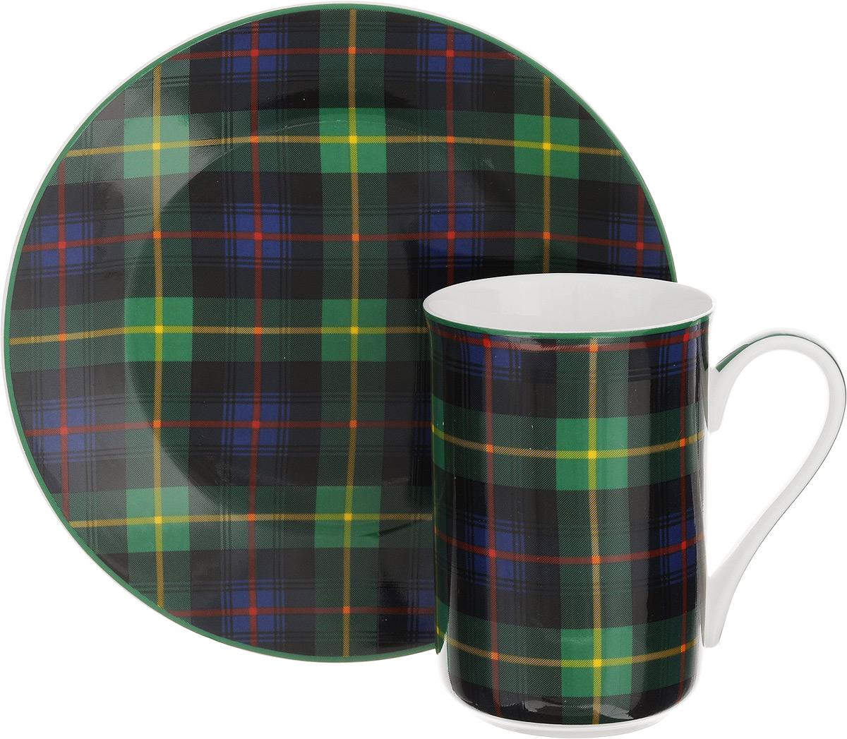 Набор для завтрака Patricia Стиль, 2 предмета. IM52-1100IM52-1100Набор для завтрака Patricia Стиль включает кружку и тарелку. Изделия выполнены из фарфора высокого качества и украшены декором в виде традиционной шотландской клетки. Набор идеально подойдет для сервировки завтрака для одной персоны. Такой набор не только порадует своей практичностью, но и станет приятным сувениром для ваших близких. А оригинальное оформление посуды добавит ярких эмоций. Набор упакован в подарочную коробку, задрапированную белой атласной тканью. Не рекомендуется мыть в посудомоечной машине и использовать в микроволновой печи. Объем кружки: 370 мл. Диаметр кружки (по верхнему краю): 7,5 см. Высота кружки: 11 см. Диаметр тарелки: 19 см.