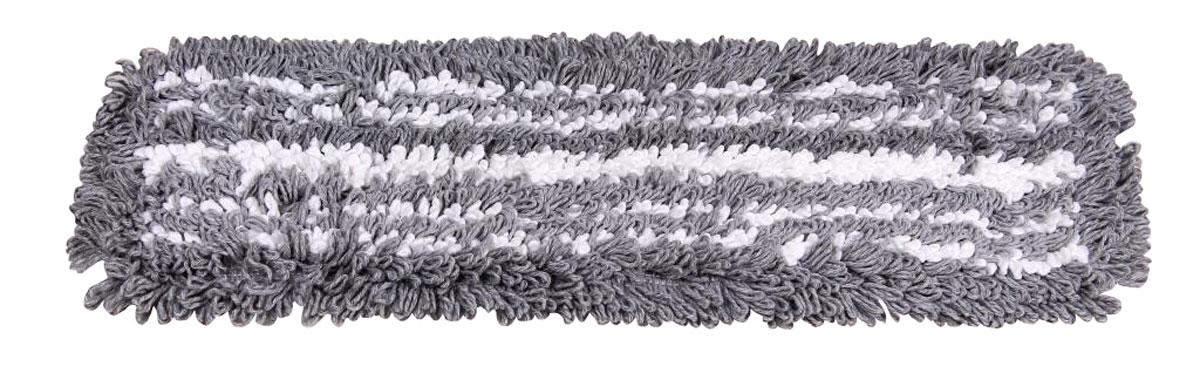 Сменная насадка для швабры Hausmann Eco-Micro Micro, микрофибра, цвет: серый, белый, 45 х 13 смHM-45133Насадка из хлопка с микрофиброй для швабр от 41 см до 45 см, д ля сильных загрязнений, универсальная для любых полов