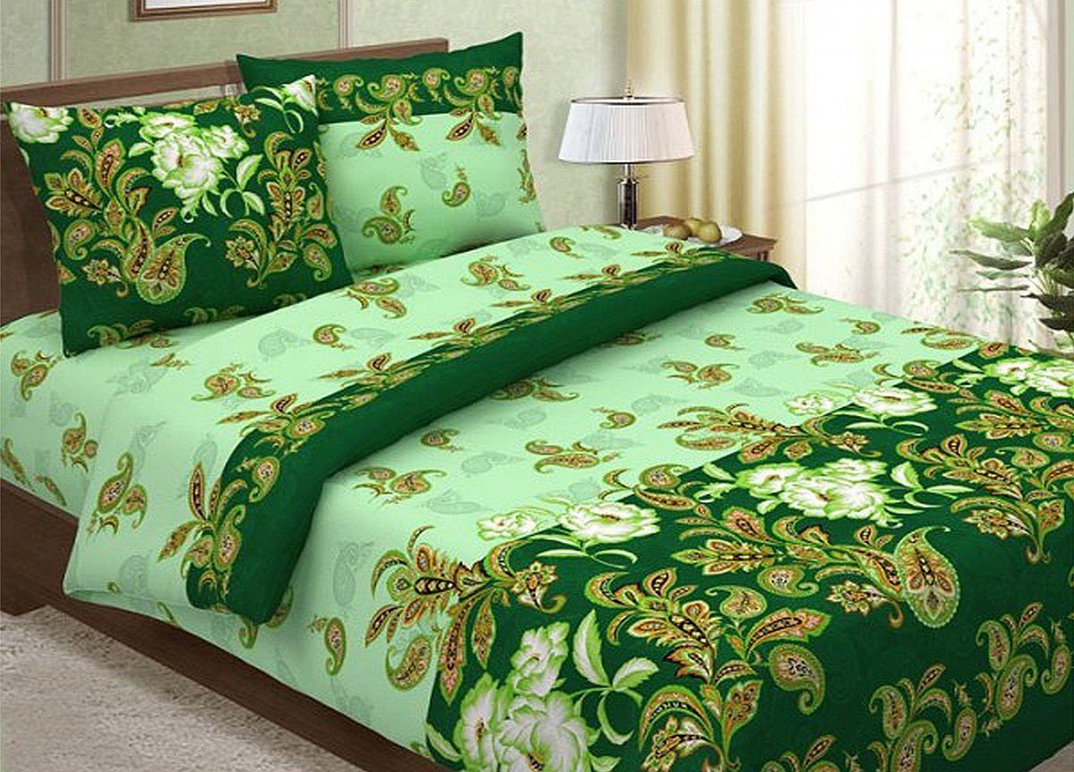 Комплект белья Primavera Сатин зеленый, 1,5-спальный, наволочки 70x70, цвет: зеленый86795Наволочки с декоративным кантом особенно подойдут, если вы предпочитаете класть подушки поверх покрывала. Кайма шириной 5-10см с трех или четырех сторон делает подушки визуально более объемными, смотрятся они очень аккуратно, даже парадно. Еще такие наволочки называют оксфордскими или наволочками «с ушками». Сатин – прочная и плотная ткань с диагональным переплетением нитей. Хлопковый сатин по мягкости и гладкости уступает атласу, зато не будет соскальзывать с кровати. Сатиновое постельное белье легко переносит стирку в горячей воде, не выцветает. Прослужит комплект из обычного сатина меньше, чем из сатина повышенной плотности, но дольше белья из любой другой хлопковой ткани. Сатин приятен на ощупь, под ним комфортно спать летом и зимой. Производство «Примавера» находится в Китае, что позволяет сократить расходы на доставку хлопка. Поэтому цены на это постельное белье более чем скромные и это не сказывается на качестве. Сатин очень гладкий, мягкий, но при этом, невероятно прочный....