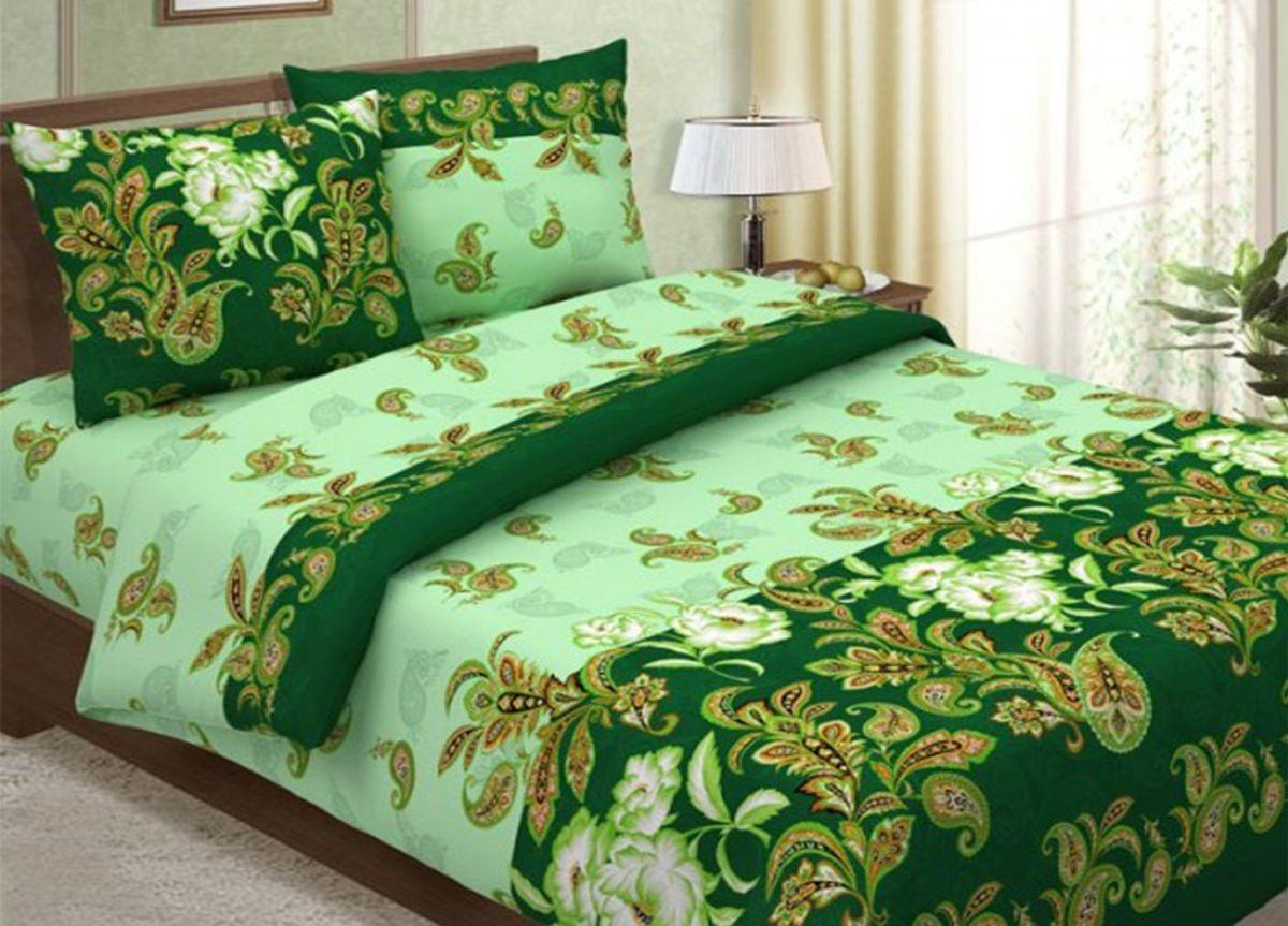 Комплект белья Primavera Сатин зеленый, 2-спальный, наволочки 70x70, цвет: зеленый86800Наволочки с декоративным кантом особенно подойдут, если вы предпочитаете класть подушки поверх покрывала. Кайма шириной 5-10см с трех или четырех сторон делает подушки визуально более объемными, смотрятся они очень аккуратно, даже парадно. Еще такие наволочки называют оксфордскими или наволочками «с ушками». Сатин – прочная и плотная ткань с диагональным переплетением нитей. Хлопковый сатин по мягкости и гладкости уступает атласу, зато не будет соскальзывать с кровати. Сатиновое постельное белье легко переносит стирку в горячей воде, не выцветает. Прослужит комплект из обычного сатина меньше, чем из сатина повышенной плотности, но дольше белья из любой другой хлопковой ткани. Сатин приятен на ощупь, под ним комфортно спать летом и зимой. Производство «Примавера» находится в Китае, что позволяет сократить расходы на доставку хлопка. Поэтому цены на это постельное белье более чем скромные и это не сказывается на качестве. Сатин очень гладкий, мягкий, но при этом, невероятно прочный....