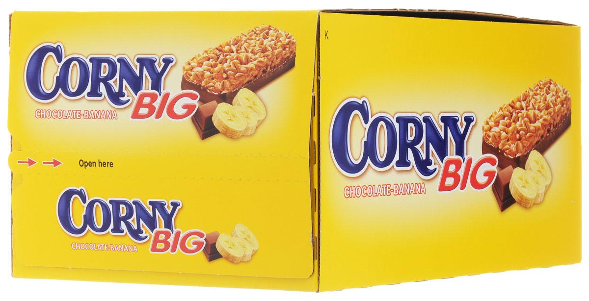 Corny Big злаковая полоска с бананом и молочным шоколадом, 24 шт
