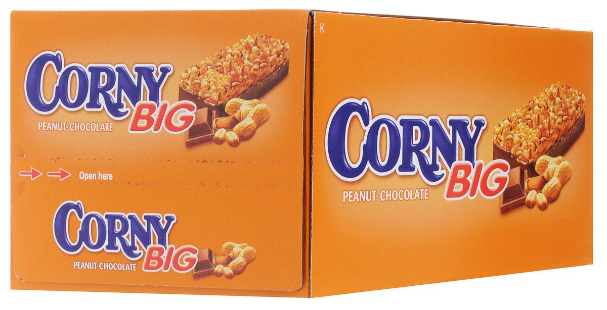 Corny Big злаковая полоска с арахисом и молочным шоколадом, 24 штбзк007_24 штукиЗлаковые батончики Corny - вкусная и здоровая альтернатива традиционным снэкам - шоколадным плиткам, чипсам и булкам. Батончики сочетают в себе исключительную пользу и удобство. В их состав входят злаки, орехи, фрукты и шоколад. Разнообразие видов позволяет каждому выбрать батончик по своему вкусу. Медленные углеводы заряжают полезной энергией, а удобная форма и упаковка соответствуют быстрому ритму жизни.