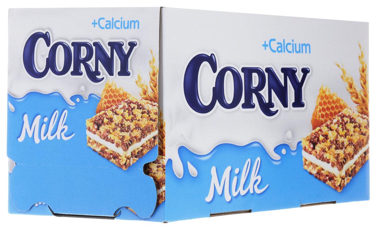 Corny Milk злаковый батончик с молочным наполнителем и медом, 24 штбзк009_24 штукиЗлаковые батончики Corny - вкусная и здоровая альтернатива традиционным снэкам - шоколадным плиткам, чипсам и булкам. Батончики сочетают в себе исключительную пользу и удобство. В их состав входят злаки, орехи, фрукты и шоколад. Разнообразие видов позволяет каждому выбрать батончик по своему вкусу. Медленные углеводы заряжают полезной энергией, а удобная форма и упаковка соответствуют быстрому ритму жизни.