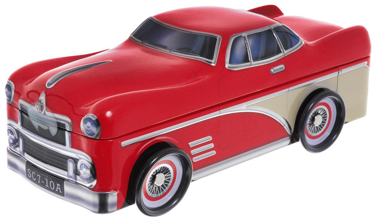 Сладкая Сказка Красный автомобиль печенье с кусочками шоколада, 200 г4600416015238_красныйСладкая Сказка Красный автомобиль - вкуснейшее сдобное печенье с кусочками шоколада, упакованное в оригинальную банку в виде автомобиля красного цвета. Идеальный подарок к любому значимому событию.