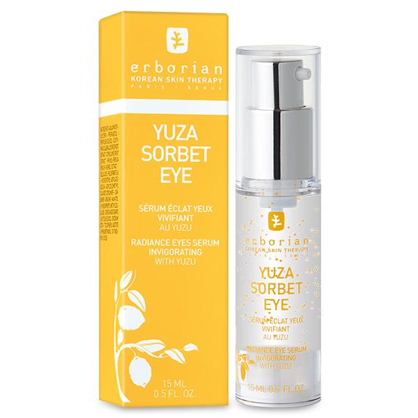 Erborian Сорбет сыворотка для кожи вокруг глаз YUZA SORBET FAMILY 15 мл781625Юзу сорбет сыворотка для глаз помогает разбудить глаза после сна, увлажняя чувствительную кожу зоны вокруг глаз. Сыворотка содержит витамин Е, известный своими антиоксидантными свойствами. Она мгновенно впитывается, защищая от внешних воздействий и сухости кожу глаз. В результате глаза выглядят отдохнувшими, кожа становится мягкая и гладкая.