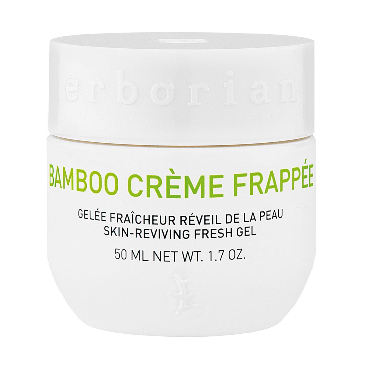 Erborian BAMBOO крем-фраппе для лица 50 мл781106Как ледяной водопад, Бамбук крем-фраппе дарит коже мгновенный бодрящий эффект. Крем обладает тающей текстурой, при контакте с кожей сразу дарит ей заряд свежести и увлажнения. Мгновенно впитываясь, он пробуждает кожу, которая выглядит более свежей, мягкой и гладкой сразу после применения.