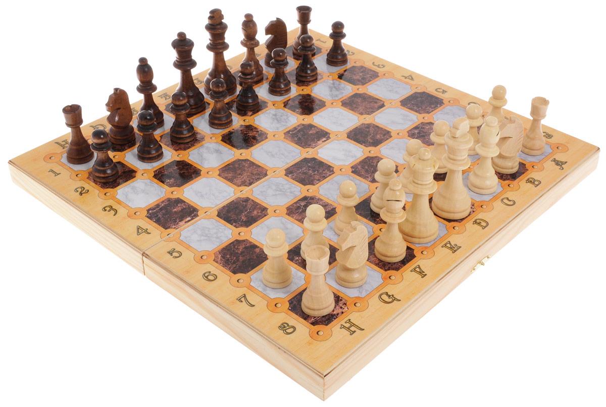 Игровой набор 3в1 Perfecto Мраморный: нарды, шахматы, шашкиsh-012Игровой набор 3в1 Perfecto Мраморный - это сразу 3 игры: нарды, шахматы и шашки. В набор входят шахматные фигуры, фишки для нард и шашек, 2 кубика и кейс. Изделия выполнены из высококачественной древесины березы и хвойных пород деревьев. Деревянный лакированный кейс выполнен в оригинальном дизайне и имеет два поля: внутреннее для игры в нарды и поле снаружи для шахмат и шашек. Кейс закрывается на металлический замок. Такой набор станет замечательным подарком к любому случаю. Качество, дизайн и функциональность сделают его желанным для каждого. Размер кейса в сложенном виде: 40 х 20 х 5 см. Размер игрового поля для игры в нарды/шахматы/шашки: 40 х 40 см. Диаметр шашки: 1,8 см. Высота короля: 9 см.