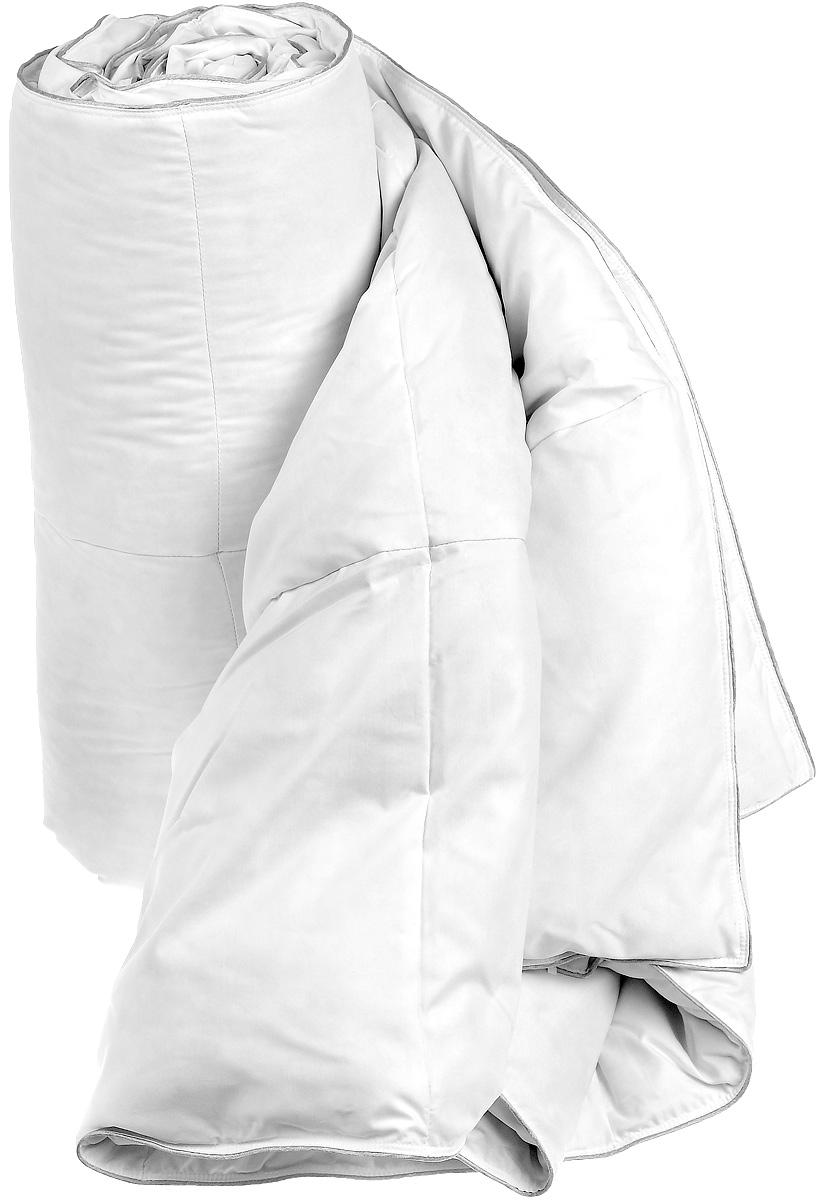 Одеяло Dargez Женева, наполнитель: гусиный пух, 172 х 205 см203138Одеяло Dargez Женева окутает вас теплом, подарит здоровый сон и необычайный комфорт. Чехол одеяла изготовлен из тенселя и полиэстера, края отделаны серебристым кантом. Одеяло изготовлено по технологии камерстеп, то есть состоит из независимых камер. Внутри - наполнитель из натурального гусиного пуха категории Экстра. Во все времена гусиный пух считался одним из самых ценных наполнителей для постельных принадлежностей, который обладает особой мягкостью, упругостью и высокой теплоизоляцией. Высококачественный пух Dargez собирается с породистой птицы, выращиваемой в суровых климатических условиях экологически чистых областей сибирского региона. Это обеспечивает превосходное качество пуха. Одеяло имеет необычайно гладкую поверхность ткани, отличается высокой воздухонепроницаемостью, хорошей терморегуляцией и поддерживает оптимальный уровень влажности. Обладает средней степенью теплоты: под ним прохладно летом и тепло зимой. Одеяло также прошло обработку...