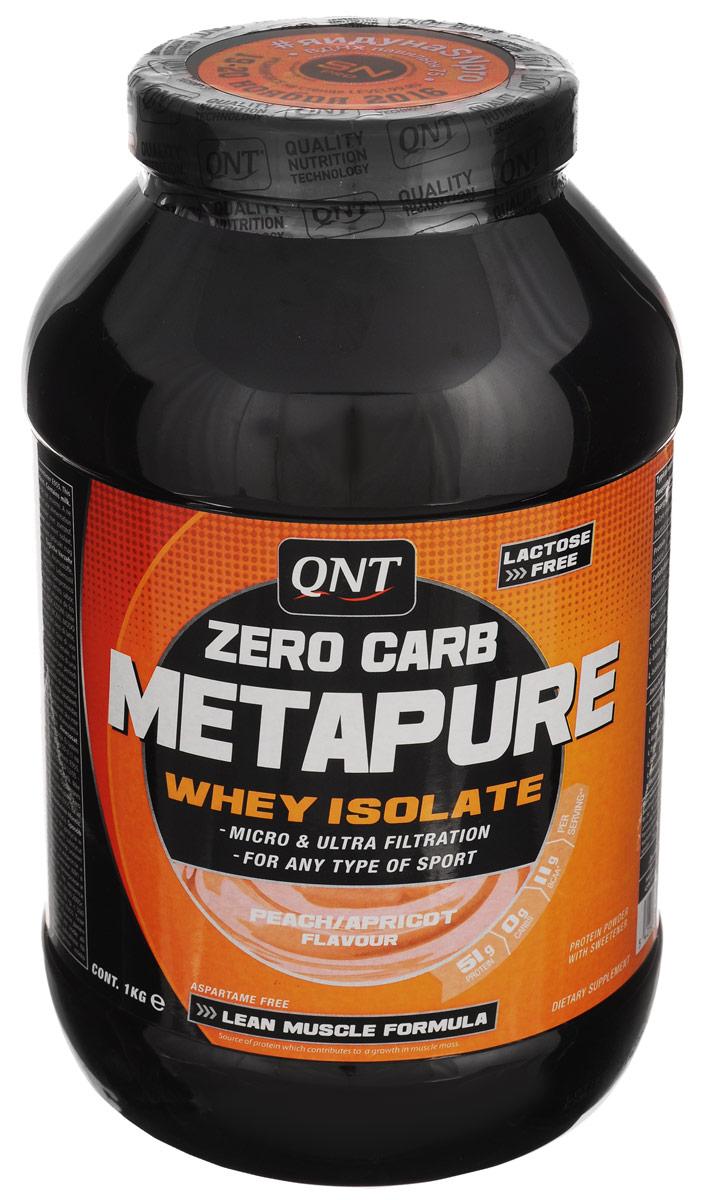 Изолят QNT Metarupe Zero Carb, персик-абрикос, 1 кгQNT0023Metarupe Zero Carb изготовлен из изолята сывороточного протеина - самой чистой формы протеина, существующей на рынке. Изолят состоит из простых аминокислот и из большого количества аминокислот с разветвленными боковыми цепями (ВСАА). Они являются наиболее важными для восстановления и роста мышц. QNT Metapure Zero Carb быстро и полностью растворяется в воде, без образования комочков или осадка. Это чистейший изолят без жиров, холестерина, лактозы и углеводов. Metapure Zero Carb абсорбируется и усваивается организмом быстрее любой белковой формулы. Рекомендации по применению: Размешайте 2 мерные ложечки (60 г) в 500 мл воды или обезжиренного молока. Для наращивания сухой мышечной массы и восстановления пейте коктейль после тренировок и между приемами пищи. Состав: изолят сывороточного протеина, вкусовая добавка, подсластитель Е955. Товар сертифицирован.