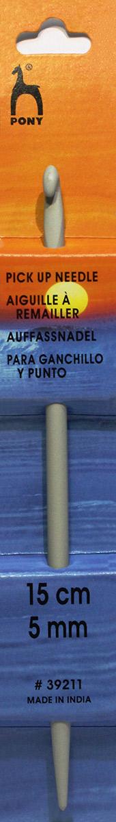 PONY Крючок-спица 5,00 мм/ 15 см, алюминий. 3921139211Крючок-спица вязальные. Алюминий. Длина 15 см, диаметр 5,00 мм. Картон.