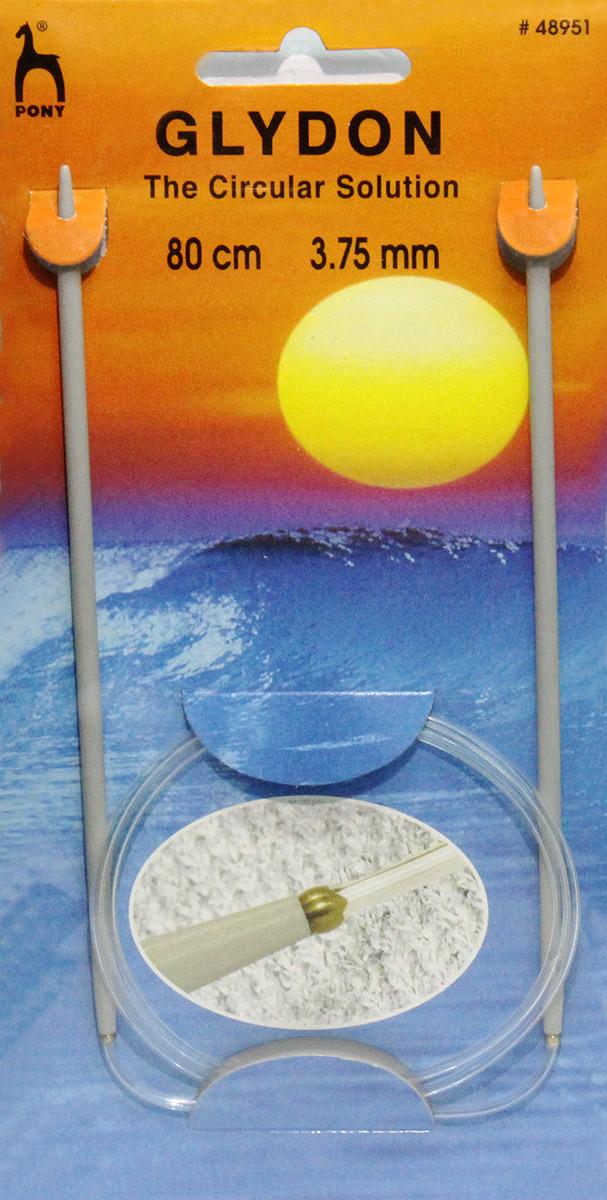 PONY GLYDON Спицы круговые 3,75 мм/ 80 см, пластик, 2 шт. 4895148951Спицы вязальные круговые. Пластик. Длина 80,0 см, диаметр 3,75 мм. Чехол.