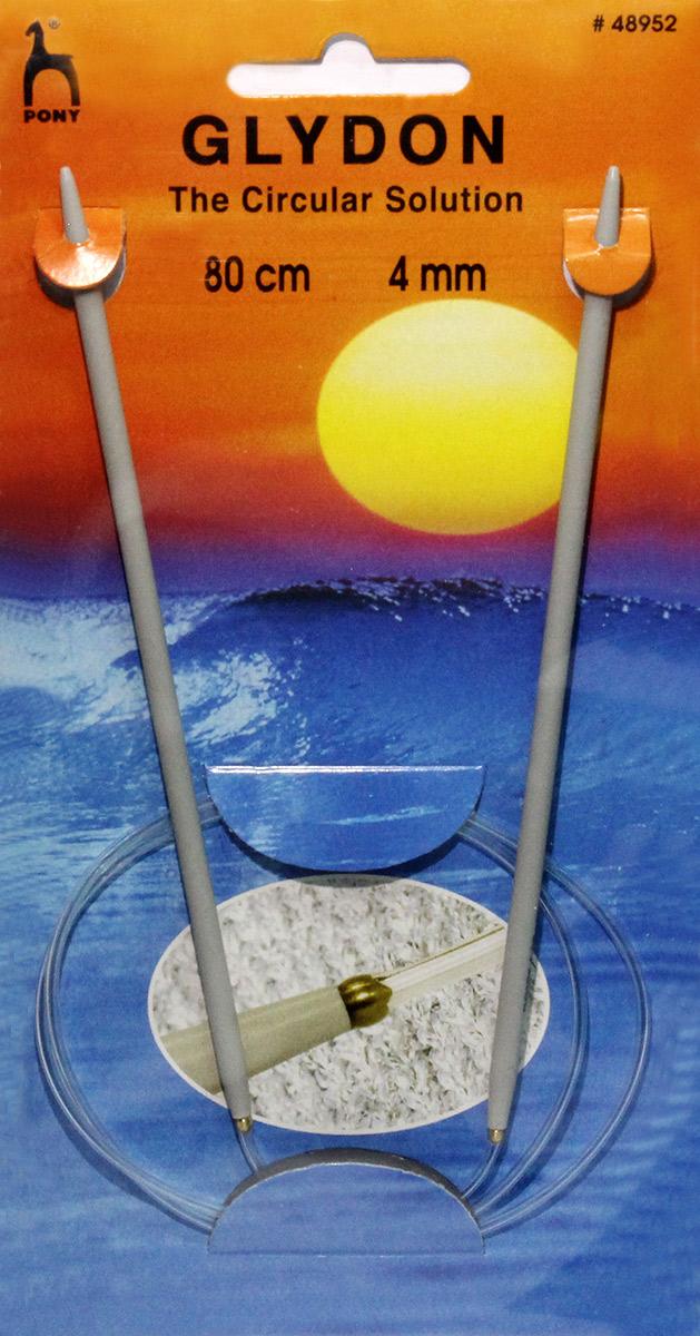 PONY GLYDON Спицы круговые 4,00 мм/ 80 см, пластик, 2 шт. 4895248952Спицы вязальные круговые. Пластик. Длина 80,0 см, диаметр 4,00 мм. Чехол.