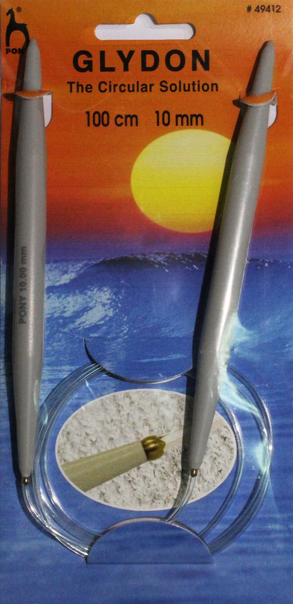 PONY GLYDON Спицы круговые 10,00 мм/ 100 см, пластик, 2 шт. 4941249412Спицы вязальные круговые. Пластик. Длина 100,0 см, диаметр 10,00 мм. Чехол.