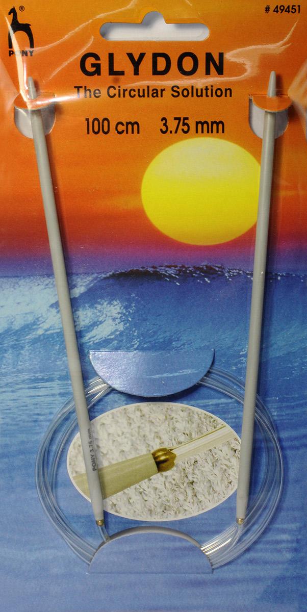 PONY GLYDON Спицы круговые 3,75 мм/ 100 см, пластик, 2 шт. 4945149451Спицы вязальные круговые. Пластик. Длина 100,0 см, диаметр 3,75 мм. Чехол.