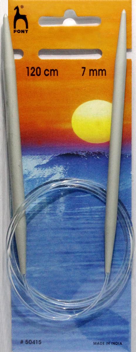 PONY Спицы круговые 7,00 мм/ 120 см, алюминий, 2 шт. 5041550415Спицы вязальные круговые. Алюминий. Длина 120,0 см, диаметр 7,00 мм. Чехол.