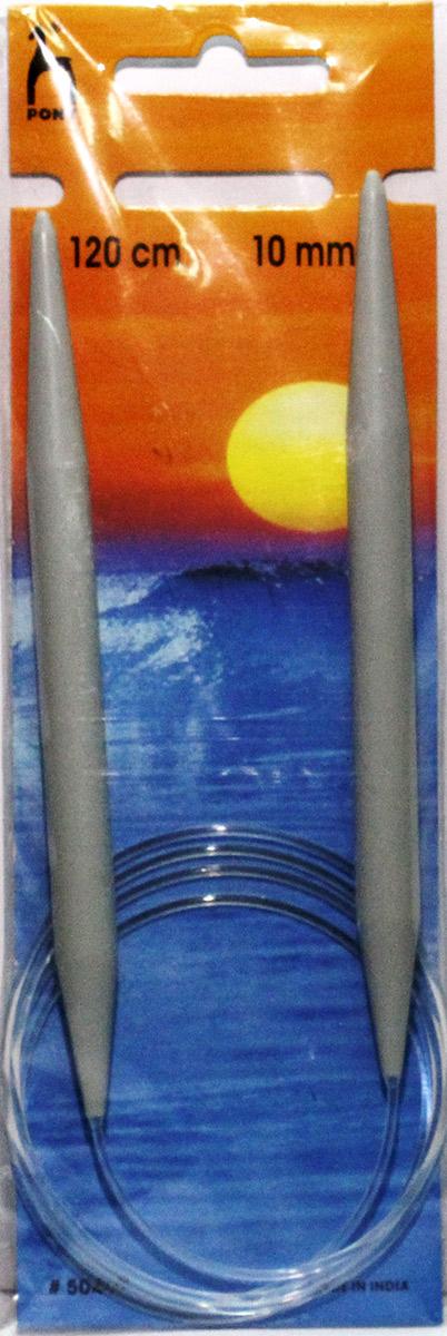 PONY Спицы круговые 10,00 мм/ 120 см, пластик, 2 шт. 5046950469Спицы вязальные круговые. Пластик. Длина 120,0 см, диаметр 10,00 мм. Чехол.