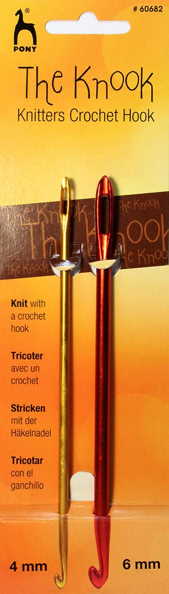 PONY Крючки для нукинга 4,00 мм/ 6,00 мм/ 16 см, алюминий, 2 шт. 6068260682Набор крючков для нукинга. Алюминий. Диаметр 4,00 мм/ 6,00 мм. длина 16 см.
