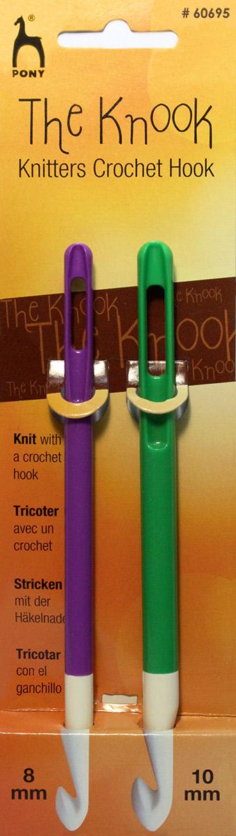 PONY Крючки для нукинга 8,00 мм/ 10,00 мм/ 16,5 см, пластик, 2 шт. 6069560695Набор крючков для нукинга. Пластик. Диаметр 8,00 мм/ 10,00 мм. длина 16,5 см.