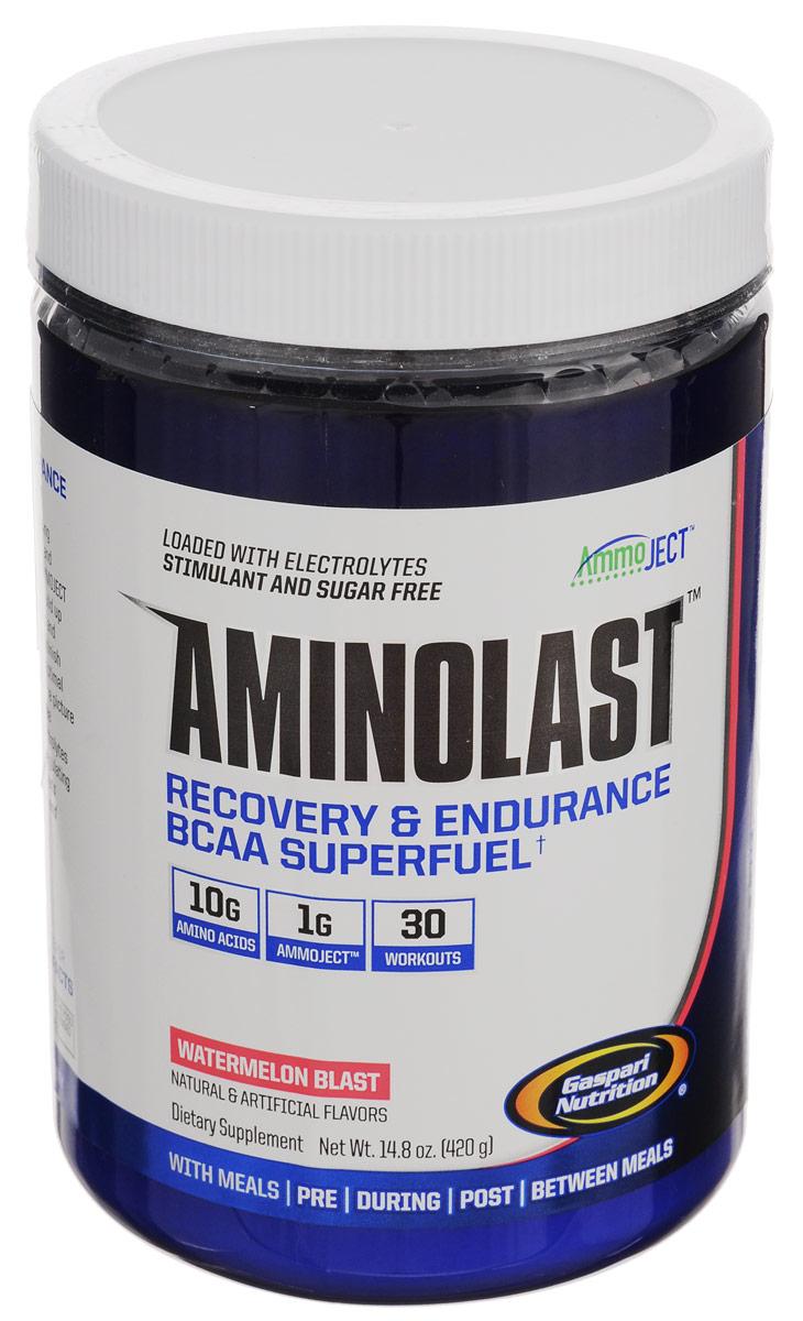 ВСАА с расширенной матрицей Gaspari Nutrition Aminolast, арбуз, 420 гG8403ВСАА с расширенной матрицей Gaspari Nutrition Aminolast ускоряет восстановление и снижает болезненность в мышцах, содержит 10 грамм качественных аминокислот в порции, восполняет потерю электролитов. Одна банка рассчитана на 30 тренировок. Аминокислотный препарат обладает великолепным вкусом и открывает новую страницу в истории спортивного питания. Aminolast поможет вам добиться поставленных целей. Взяв только лучшие ингредиенты и ни грамма искусственных красителей, Gaspari Nutrition создали превосходное супертопливо из ВСАА для восстановления и выносливости. Вы тренируетесь на пределе человеческих возможностей, и мышцам приходится за это расплачиваться. Aminolast с фирменной технологией Ammoject является единственным препаратом, который обеспечивает организм высокими дозировками аминокислот ВСАА, обогащенными лейцином, полипептидными молекулами, противосудорожными электролитами и матрицей Ammoject, которая помогает вашим мышцам избавляться от...