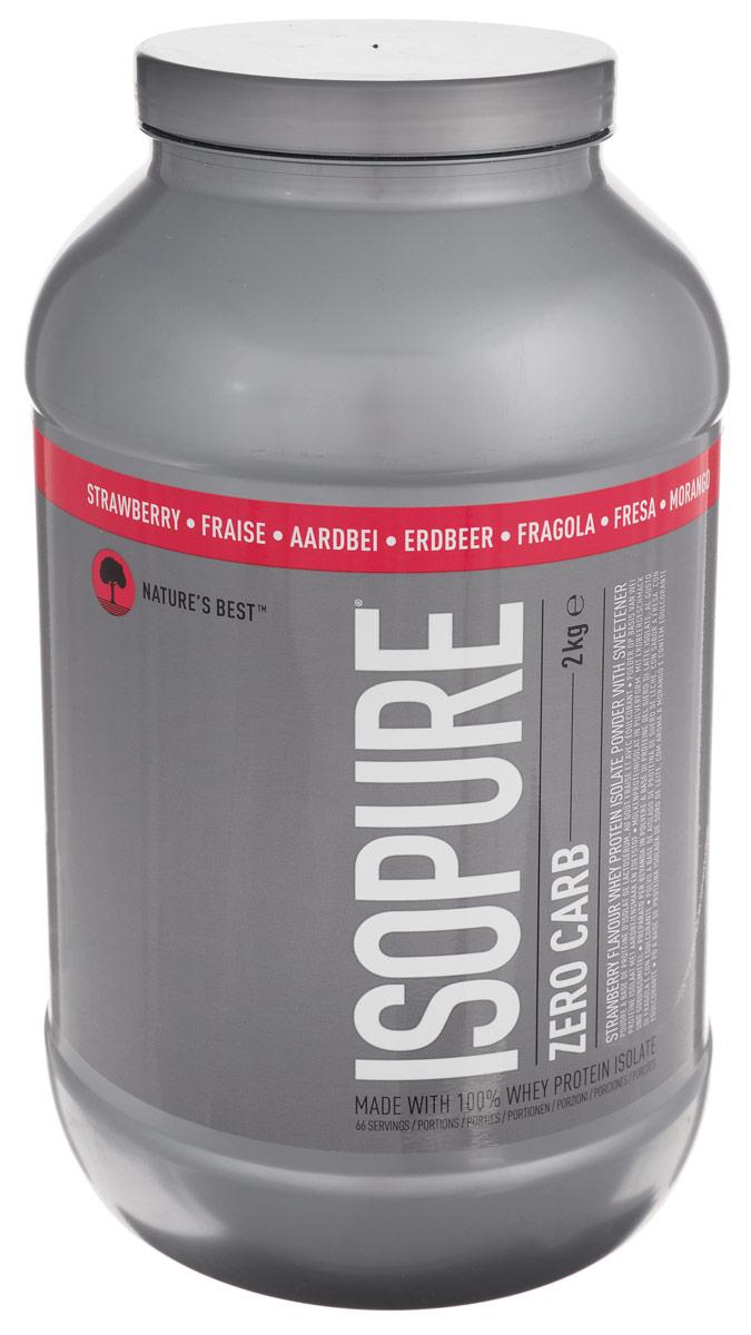 Сывороточный изолят Natures Best IsoPure Zero Carb, клубника, 2 кгN0139Сывороточный изолят Natures Best IsoPure Zero Carb - это высококачественный сывороточный изолят с рекордно низким содержанием жиров и углеводов для данного типа продуктов. Попросту ни один сывороточный протеин в порошковой форме не бывает такой чистоты, как IsoPure Zero Carb. Кроме того, он имеет превосходный вкус, что очень важно при каждодневном приеме. Рекомендации по применению: Zero Carb целесообразно употреблять сразу после тренировки для максимального использования эффекта анаболического окна. Рекомендации по приготовлению: 30 г порошка растворить в 250 мл воды или молока до 1,5% жирности. Состав: сывороточный изолят, соевый лецитин, вкусовой наполнитель, краситель, сукралоза. Товар сертифицирован.
