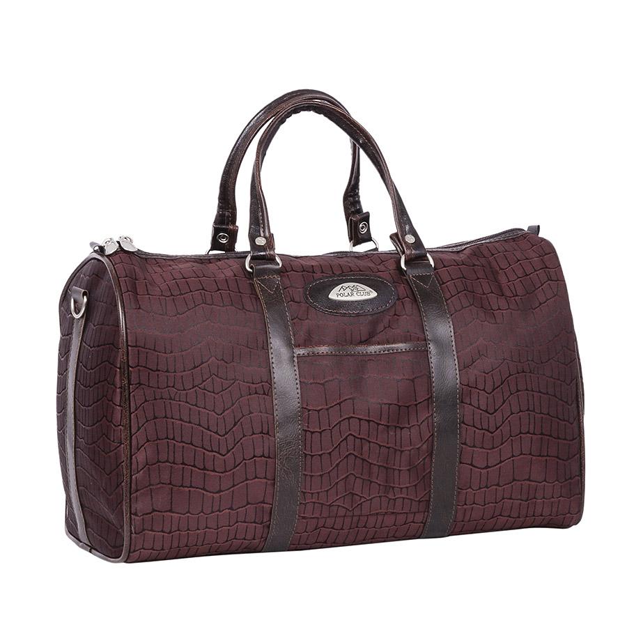 Сумка дорожная Polar, 18,5 л, цвет: коричневый. 6096.26096.2Небольшая вместительная дорожная сумка из полиэстера с водоотталкивающей пропиткой. Внутри дополнительный карман для документов. В комплект входит съемный плечевой ремень.