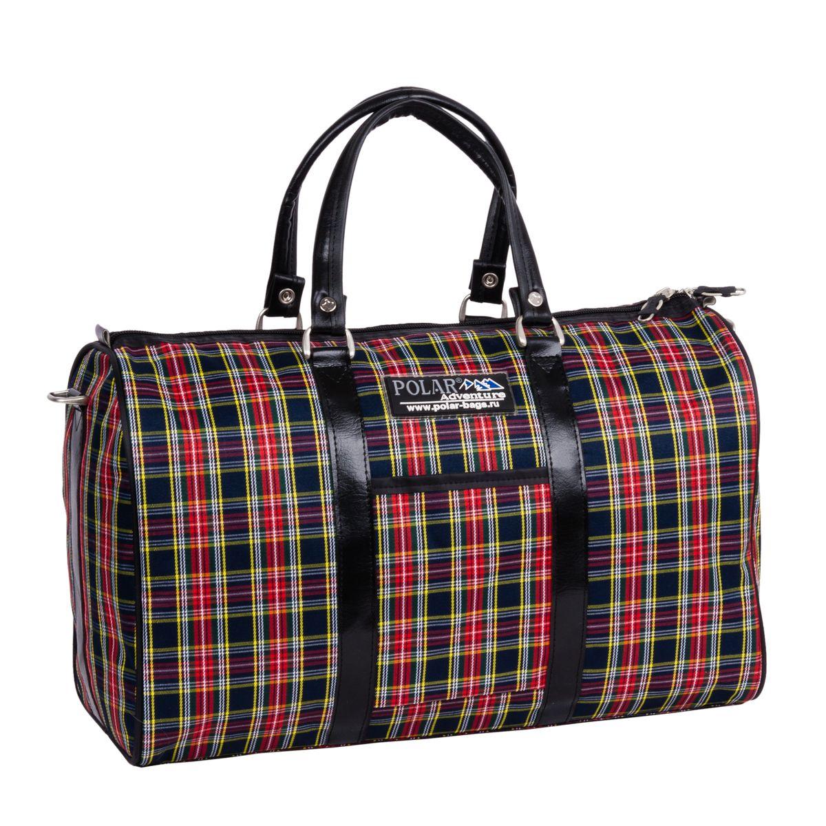 Сумка дорожная Polar, 18,5 л, цвет: красная клетка. 6096-016096-01Небольшая вместительная дорожная сумка из полиэстера с водоотталкивающей пропиткой. Внутри дополнительный карман для документов. В комплект входит съемный плечевой ремень.
