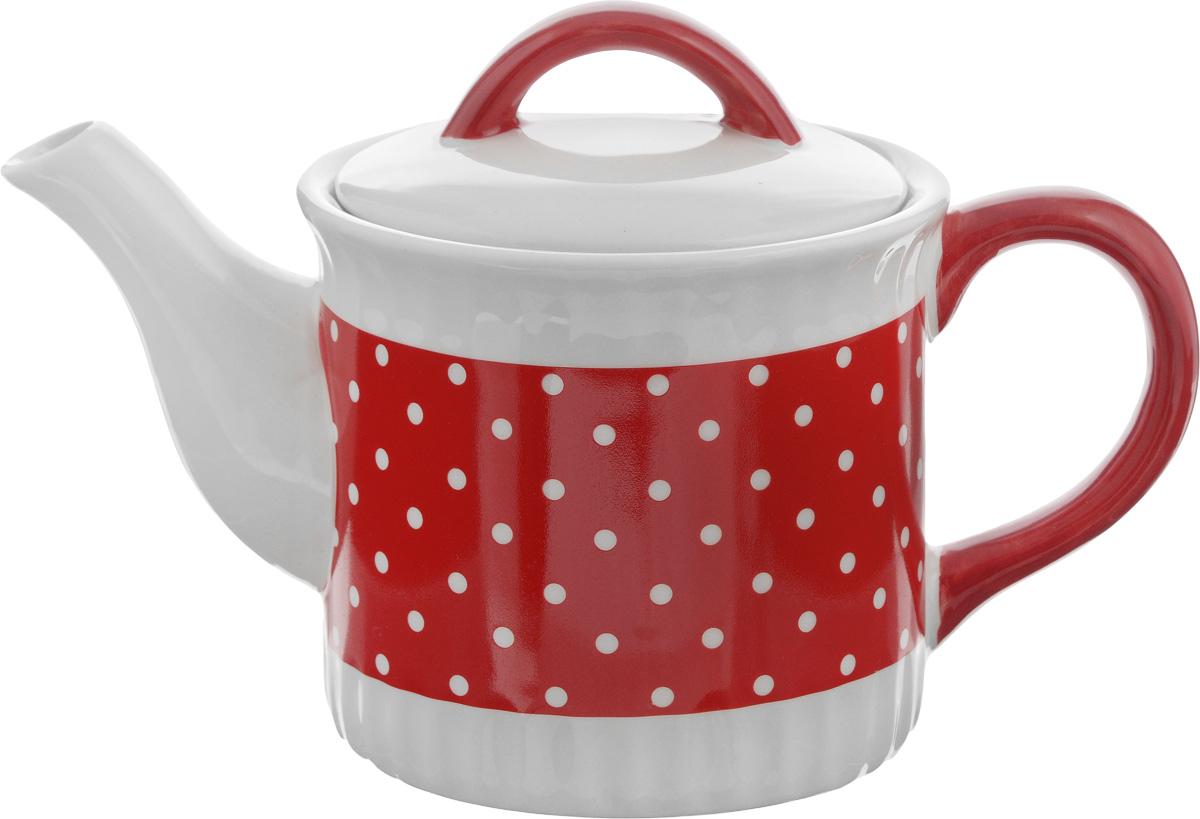 Чайник заварочный Loraine Красный узор, 730 мл25860Заварочный чайник Loraine Красный узор изготовлен из высококачественной керамики и оформлен красочным рисунком. Гладкая и идеально ровная поверхность обеспечивает легкую очистку. Чайник поможет заварить крепкий ароматный чай и великолепно украсит стол к чаепитию. Не боится низких температур. Можно мыть в посудомоечной машине. Высота чайника (без учета крышки): 10,5 см. Высота чайника (с учетом крышки): 15 см. Диаметр чайника (по верхнему краю): 12 см. Диаметр основания: 11 см.