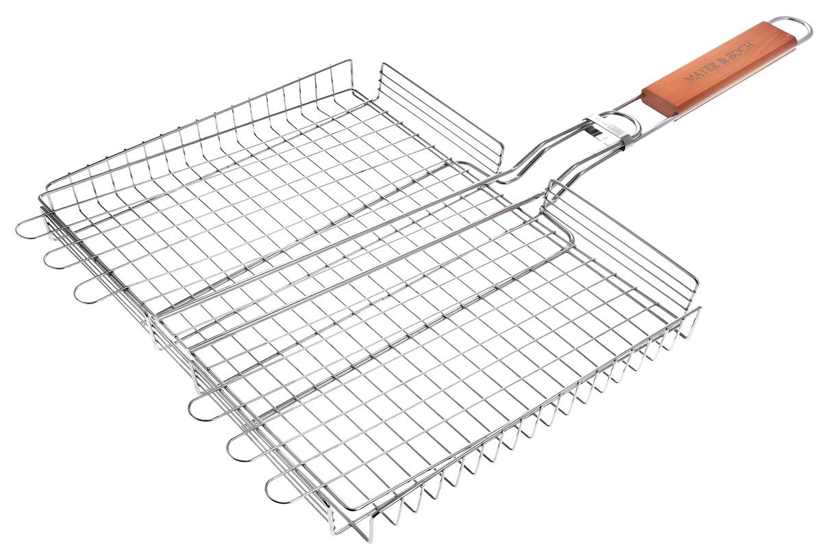 """Решетка для барбекю """"Mayer & Boch"""", с ручкой, 36 х 33 см"""
