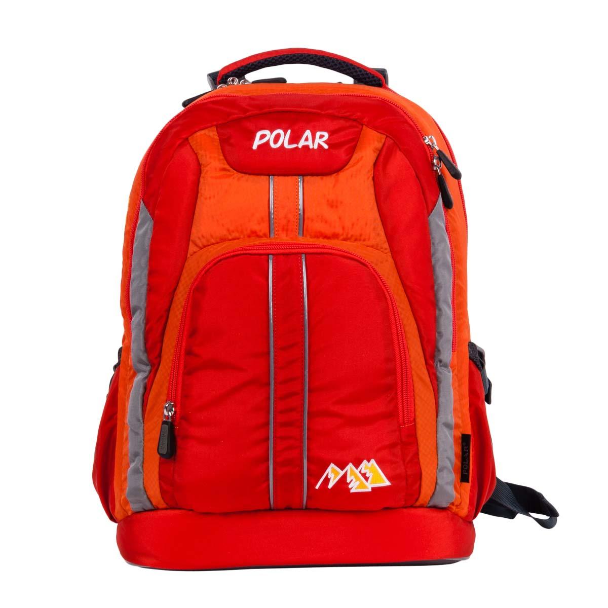 Рюкзак детский городской Polar, 24 л, цвет: оранжевый. П221-02П221-02Рюкзак фирмы Polar изготовлен из ткани с водоотталкивающей пропиткой. Жесткая спинка рюкзака имеет специальные вставки для лучшего воздухообмена. Новая конструкция лямок позволяет регулировать их не только по длине, но и согласно Вашему росту. Специальное крепление в верхней части каждой лямки поможет отрегулировать их так, что рюкзак сможет носить как взрослый, так и ребенок, не создавая дискомфорта для спины. Жесткое дно делает рюкзак устойчивым и дополняет удобством при ношении.